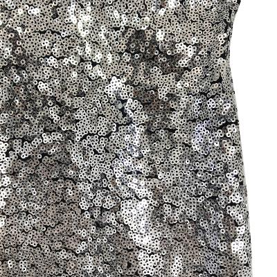 spangled slit detail skirt silver